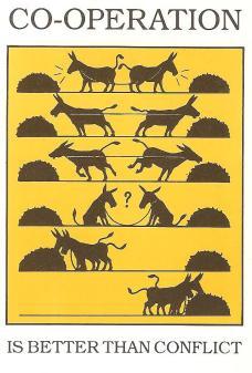 mules cooperating